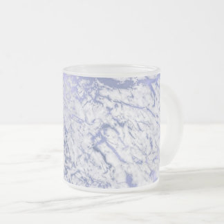 White Gray Purple Marble Abstract VIp Frosted Glass Coffee Mug