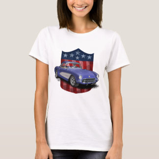 White great American 56-57 Stingvetteray Ladies T T-Shirt