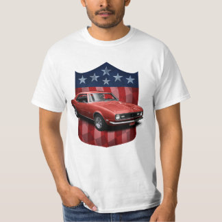 White great American Shield Camaro T-Shirt