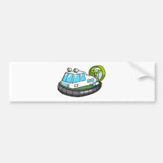 White, Green, and Black Cartoon Hovercraft Bumper Stickers