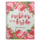 White & Green Lace Mother of the Bride Wedding Notebook