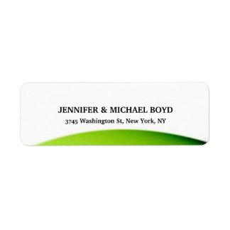 White Green Retro Style Classical Family Sheet Return Address Label