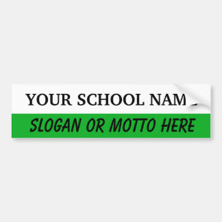 White & Green Template Bumpersticker Bumper Sticker