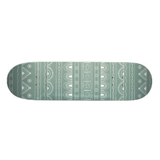 white&grey aztec pattern skateboard deck