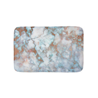 White Grey Blue Marble Stone Brown Glitter Bath Mats