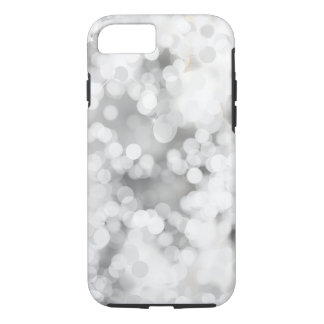 White Grey Bokeh Apple iPhone 7 Tough Phone Case