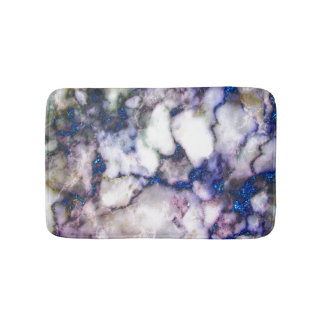 White Grey Pink Marble Stone Blue Glitter Bath Mats