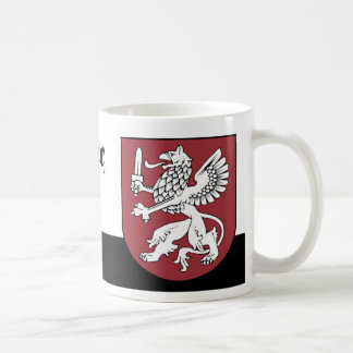 White Griffin with a Sword from Vidzeme Latvia Coffee Mug