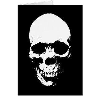 White Grim Reaper Skull Card