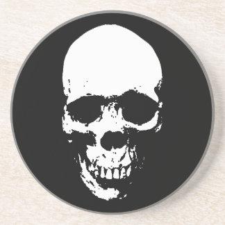 White Grim Reaper Skull Coaster