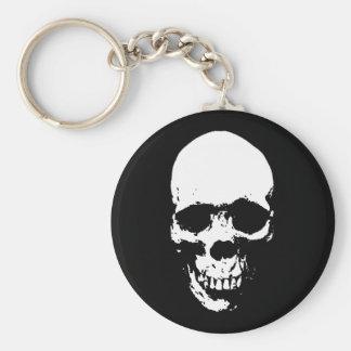 White Grim Reaper Skull Key Ring
