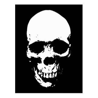 White Grim Reaper Skull Postcard
