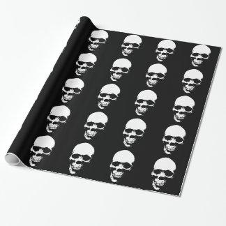 White Grim Reaper Skull Wrapping Paper