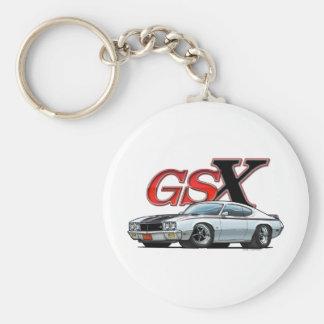 White_GSX Basic Round Button Key Ring