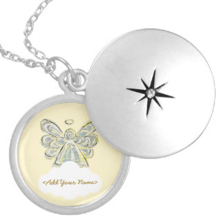 White Guardian Angel Series Cloud Custom Locket