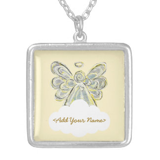 White Guardian Angel Series Cloud Custom Necklace