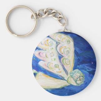 White Guardian Baby Angel Art Charm Keychains