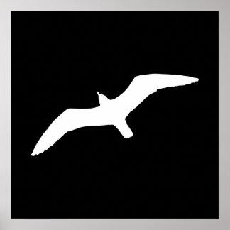 White Gull Poster