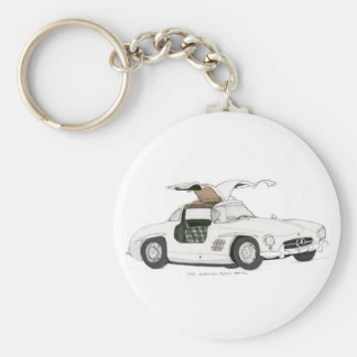 White Gullwing Key Ring