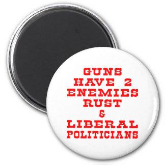White Guns 2 Enemies 6 Cm Round Magnet