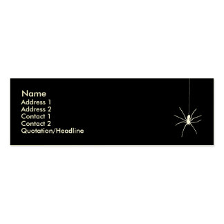 White Hanging Spider Pack Of Skinny Business Cards