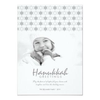 White Hanukkah Stars Of David Holiday Greetings 11 Cm X 16 Cm Invitation Card