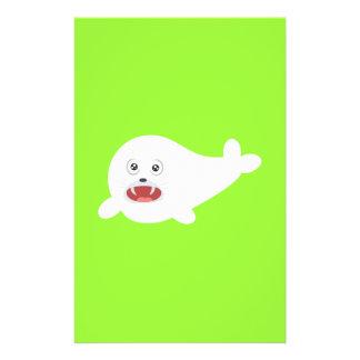White happy Seal Zioq8 Flyer
