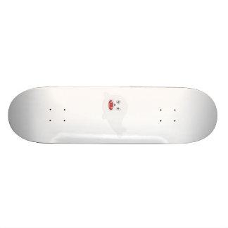 White happy Seal Zioq8 Skate Decks