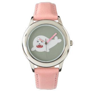 White happy Seal Zioq8 Watch