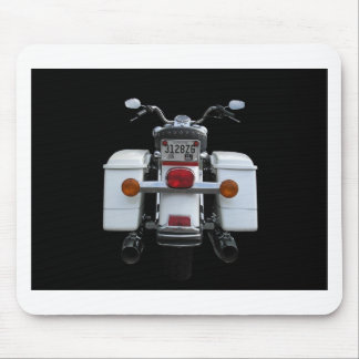 White Harley em Mouse Pad