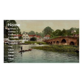 White Hart Hotel, Sonning-on-Thames, England rare Business Cards