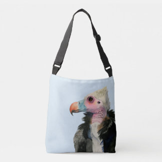 White-Headed Vulture Watercolor Painting Crossbody Bag