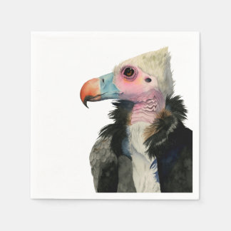 White-Headed Vulture Watercolor Painting Disposable Napkins