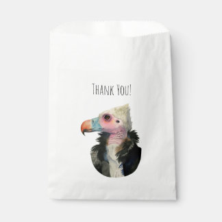 White-Headed Vulture Watercolor Painting Favour Bag
