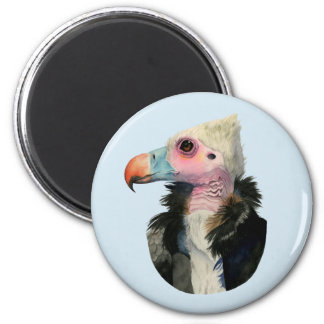 White-Headed Vulture Watercolor Painting Magnet