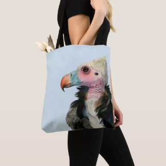 White-Headed Vulture Watercolor Painting Tote Bag
