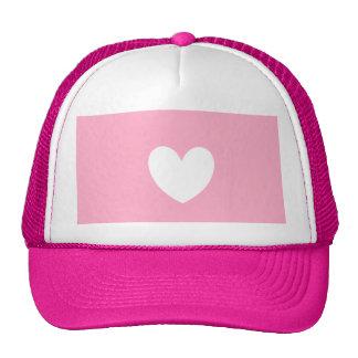 White Heart Trucker Hat