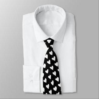 White Hearts Tie