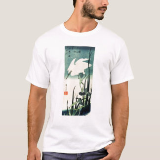 White Heron and Iris T-Shirt