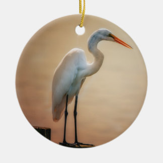 White Heron / Snowy Egret Ornament
