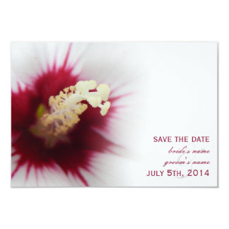 White Hibiscus Wedding Save The Date Personalized Announcement