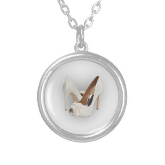 White High Heels Personalized Necklace