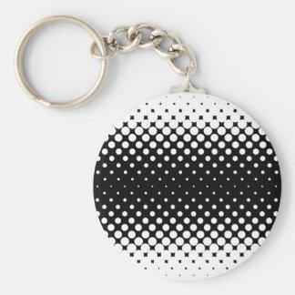 White Holes Background Basic Round Button Key Ring