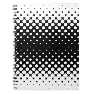 White Holes Background Notebook