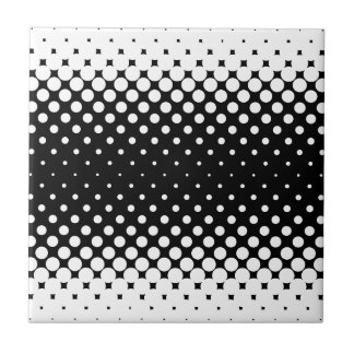 White Holes Background Small Square Tile