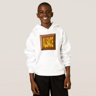 WHITE HOOD SWEATER HANES ALSACE