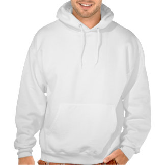 """WHITE HOODED SWEATER """"Chickens"""" (PICTURE IN FRONT) Hooded Pullover"""