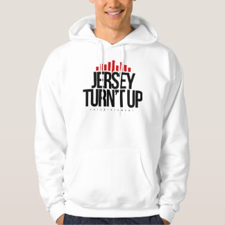 White Hoodie with Jersey Turn't Up Design