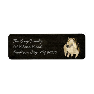 White Horse Address Label