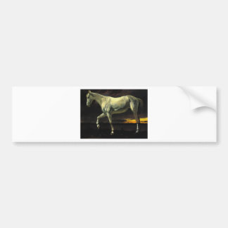 White Horse and Sunset by Albert Bierstadt Bumper Sticker